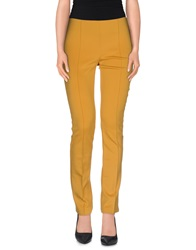 Pf Paola Frani Casual Pants Yellow