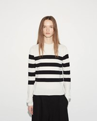 Jil Sander Horizontal Stripes Sweater Black White