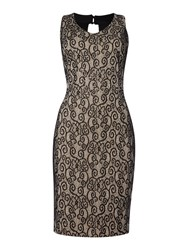 Simon Jeffrey Lace Dress Black