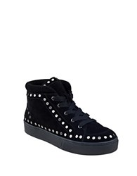Swam Sierre Studded Suede High Top Sneakers Black