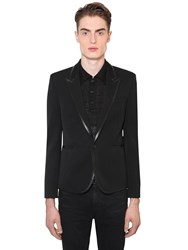 Saint Laurent Wool Gabardine Jacket Black