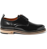 Ami Alexandre Mattiussi Patent Leather Derby Shoes Black