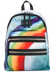 Marc Jacobs Rainbow Print Backpack Women Polyester One Size