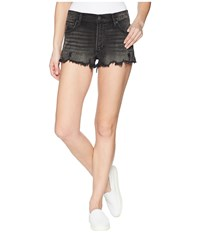 Lucky Brand The High Rise Shortie In Herome Fray Herome Fray Shorts Black