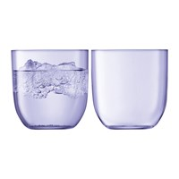 Lsa International Hint Blown Glass Tumbler Set Of 2 Pale Violet