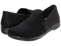 Naot Footwear Abstract Black Stretch Jet Black Leather Women's Flat Shoes