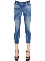 Dsquared Twiggy Cropped Cotton Denim Jeans