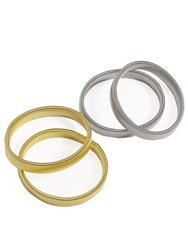 Paul Costelloe Silver And Gold Armbands