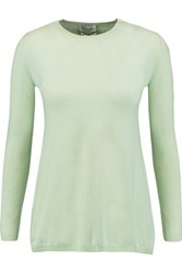 Red Valentino Redvalentino Cashmere And Silk Blend Sweater Mint