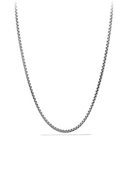 David Yurman Small Box Chain Necklace With Gold 20 Silver Gold