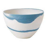 Wedgwood Pebble Jasperware Coupe Bowl Blue White