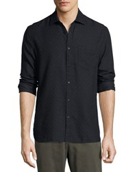 Billy Reid John T Standard Fit Shirt Navy