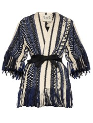Sea Braided Fringe Embellished Jacket