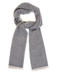 Tomas Maier Diamond Wool And Cashmere Blend Scarf