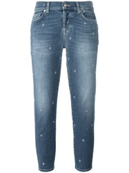 7 For All Mankind Straight Cropped Jeans Blue