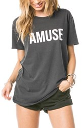 Women's Amuse Society 'Iconic' Tee Charcoal