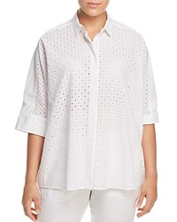 Marina Rinaldi Baritono Perforated Shirt White
