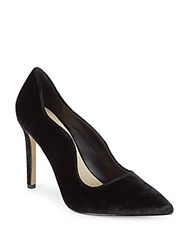 Saks Fifth Avenue Karlie Velvet High Heel Pump Black Velvet