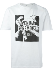 Opening Ceremony Palm Print Logo T Shirt