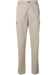Eleventy High Rise Chino Trousers Neutrals