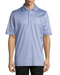 Bobby Jones Palmer Striped Jersey Polo Shirt Wisteria
