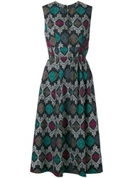 Hache Printed Flared Dress
