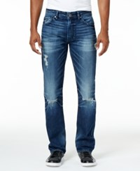 Guess Men's Stillwater Moto Jeans Trapper Blue