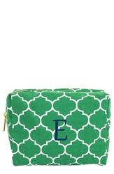 Cathy's Concepts Monogram Cosmetics Case Green E