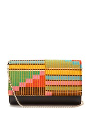 Christian Louboutin Paloma Embroidered Leather Clutch Multi