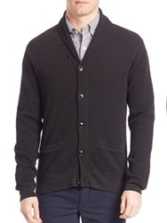 Polo Ralph Lauren Waffle Knit Shawl Cardigan Polo Black