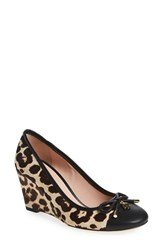 Kate Spade Women's New York 'Kacey' Cap Toe Wedge Blush Brown