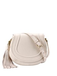 Gigi New York Jenni Pebbled Leather Saddle Bag Ivory Sable Grey Black