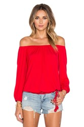 Vava By Joy Han Judy Long Sleeve Top Red