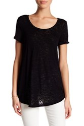 Bobeau Scoop Neck Short Sleeve Tee Black