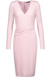 Raoul Draped Stretch Jersey Dress Pastel Pink