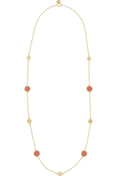 Marc By Marc Jacobs Long Medley Gold Tone Faux Pearl And Enamel Necklace