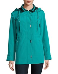 Gallery Zip Front Hooded Jacket Jungle Green