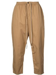 The Viridi Anne Tapered Sweatpants Brown