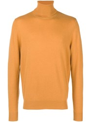 Chalayan Split Roll Neck Jumper Yellow And Orange