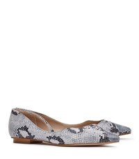 Reiss Lorna Womens Snake Effect Leather Shoes In Blue