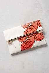 Anthropologie Clare V. Bow Foldover Pouch White