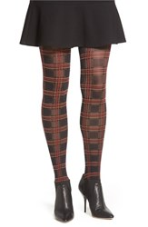Women's Pretty Polly Tartan Tights Blue Navy Mix