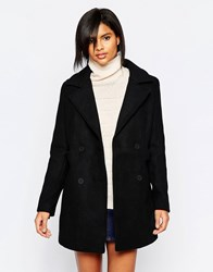 Vila Double Breasted Coat Black