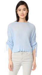 Helmut Lang Cashmere Tie Sleeve Pullover Wave