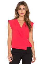 Bcbgmaxazria Drape Front Top Red