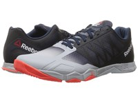 Reebok Crossfit Speed Tr Cloud Grey Collegiate Navy Atomic Red Men's Cross Training Shoes White