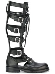 Diesel Black Gold Gladiator Boots Black