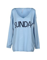 Care Of You Sweaters Sky Blue