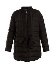 Moncler Gamme Rouge Ramasse Silk Quilted Down Jacket Black