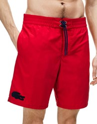 Lacoste Taffeta Solid Boardshorts Red
